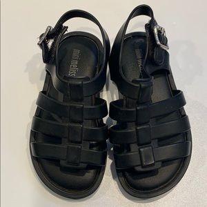 Mini Melissa Flox sandal in Black